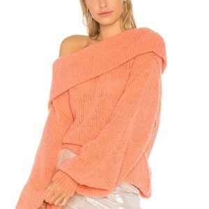 Free People Sweaters - NWT FREE PEOPLE OPHELIA PEACH OFF SHOULDER SWEATER